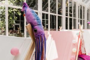 paars octopus knuffel feest Gent origineel verjaardag feestje kinderfeest