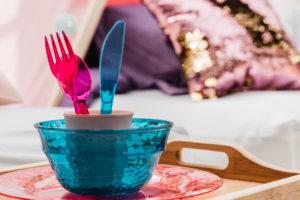 kleur mermaids servies bestek pick-nick ontbijt gent feestje verjaardag