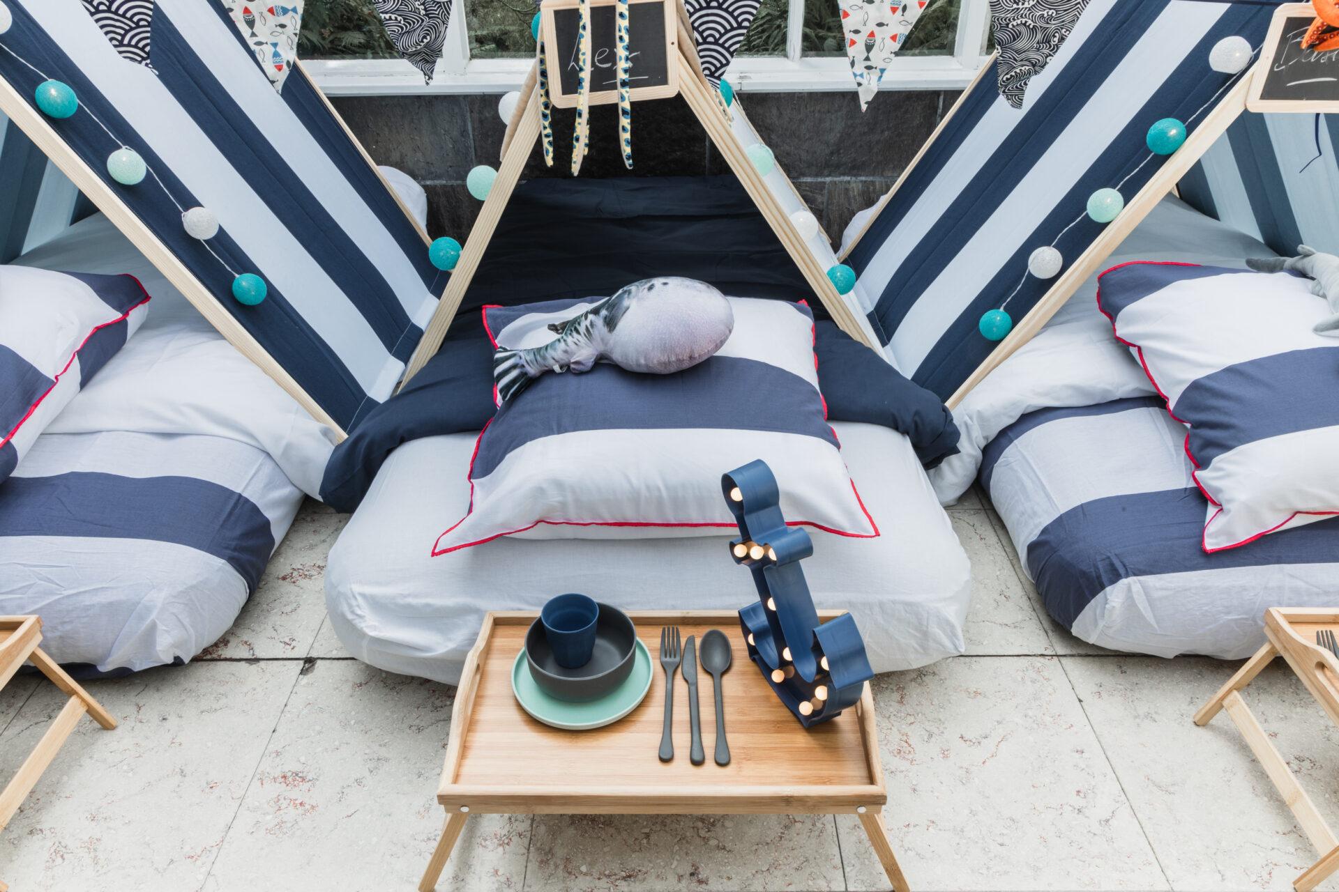 maritiem kust strand feestje kind verjaardag origineel thema tipi sleepover Getn Oost-Vlaanderen