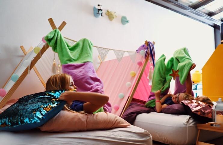 meisjesfeest tenten zeemeerminnenstaart origineel themafeest verjaardag Gent