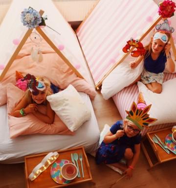 mermaids meiden fun feest verjaardagsfeest wit roze snoep Gent Oost-Vlaanderen